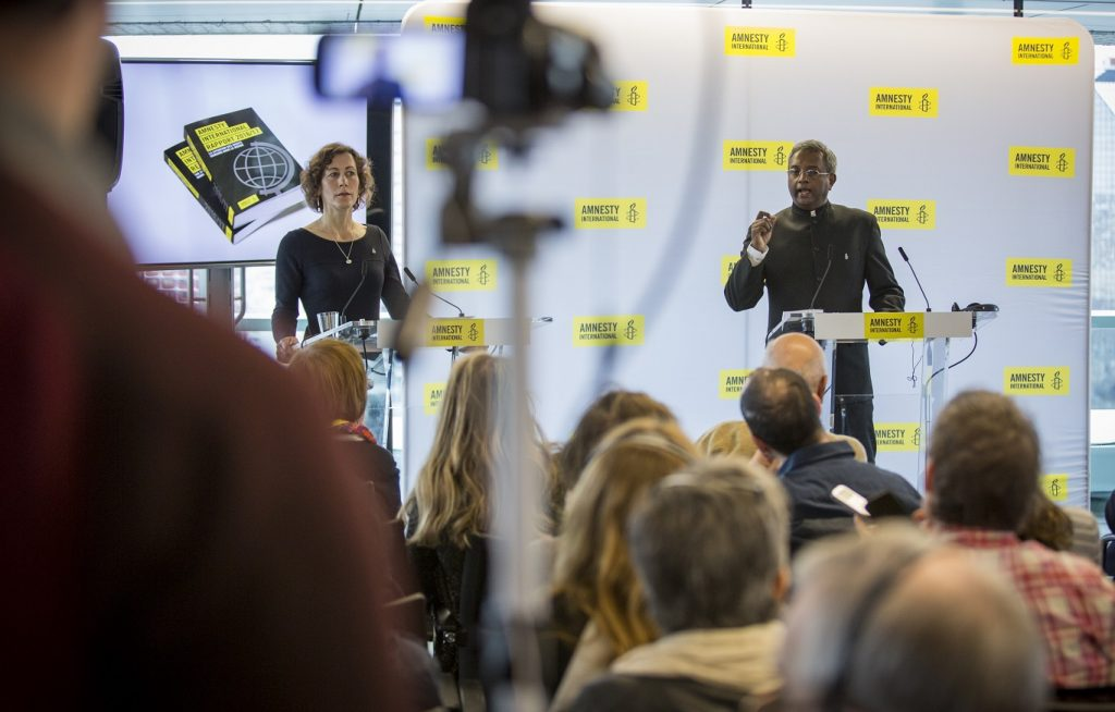 Amnesty International Annual Report Launch 2017. Radio France - Maison de la Radio, Paris, 20 February, 2017